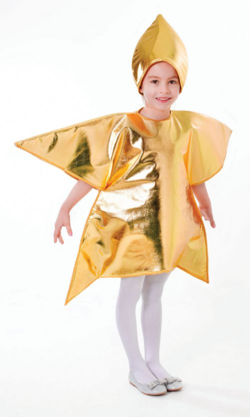 Childs Star Costume Christmas Nativity Space Fancy Dress Outfit